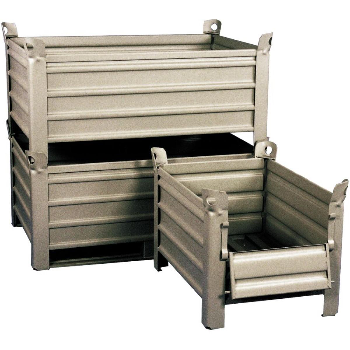 caisse palette m tallique sur patins 1235 x 835 x 600 mm hse center. Black Bedroom Furniture Sets. Home Design Ideas