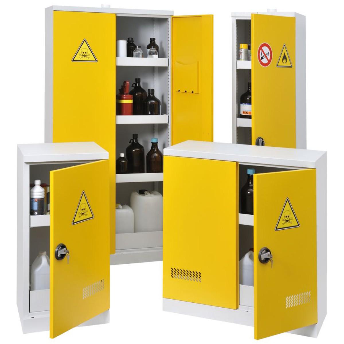 armoire de s ret pour produits dangereux 70 l hse center. Black Bedroom Furniture Sets. Home Design Ideas
