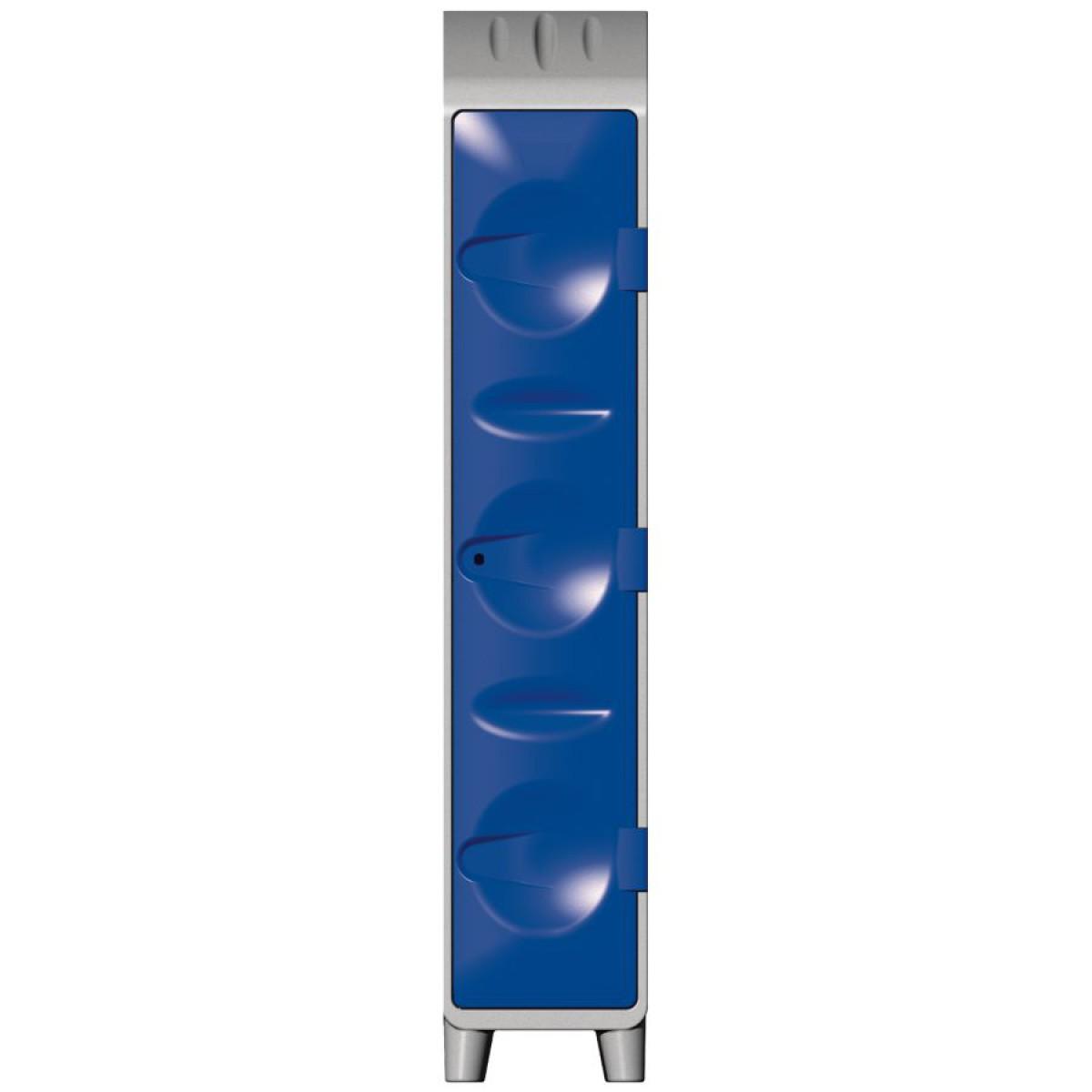 vestiaire poly thyl ne 1 tag re porte cintres avec pieds porte bleue hse center. Black Bedroom Furniture Sets. Home Design Ideas