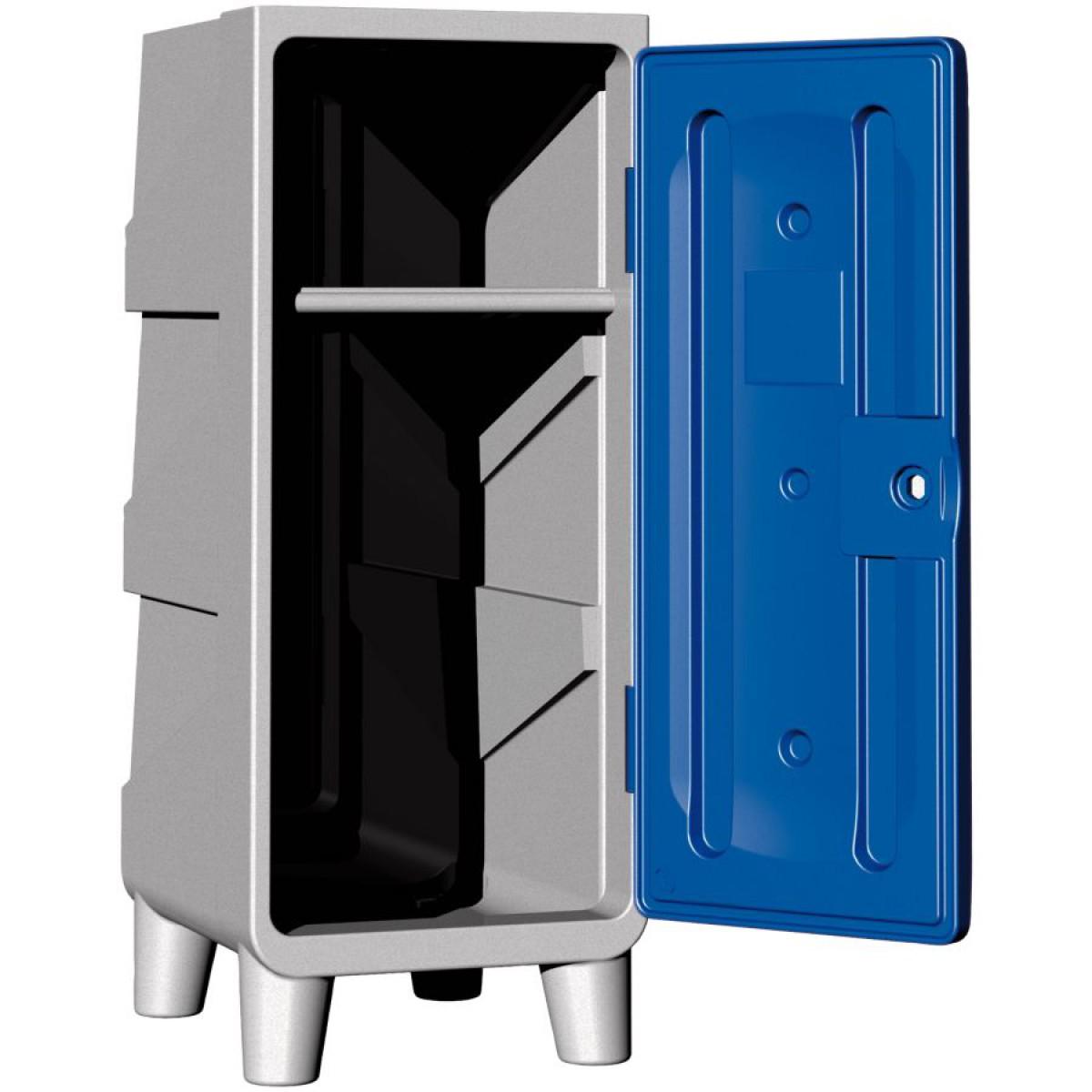 demi vestiaire poly thyl ne 1 tag re porte cintres avec pieds porte bleue hse center. Black Bedroom Furniture Sets. Home Design Ideas