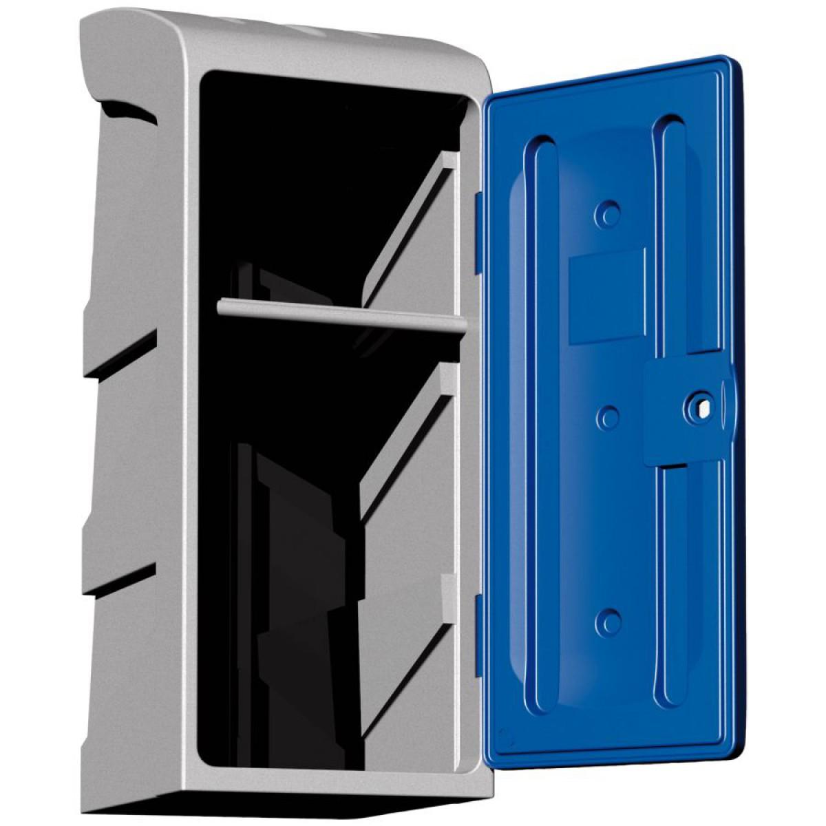 demi vestiaire poly thyl ne 1 tag re porte cintres mod le haut porte bleue hse center. Black Bedroom Furniture Sets. Home Design Ideas