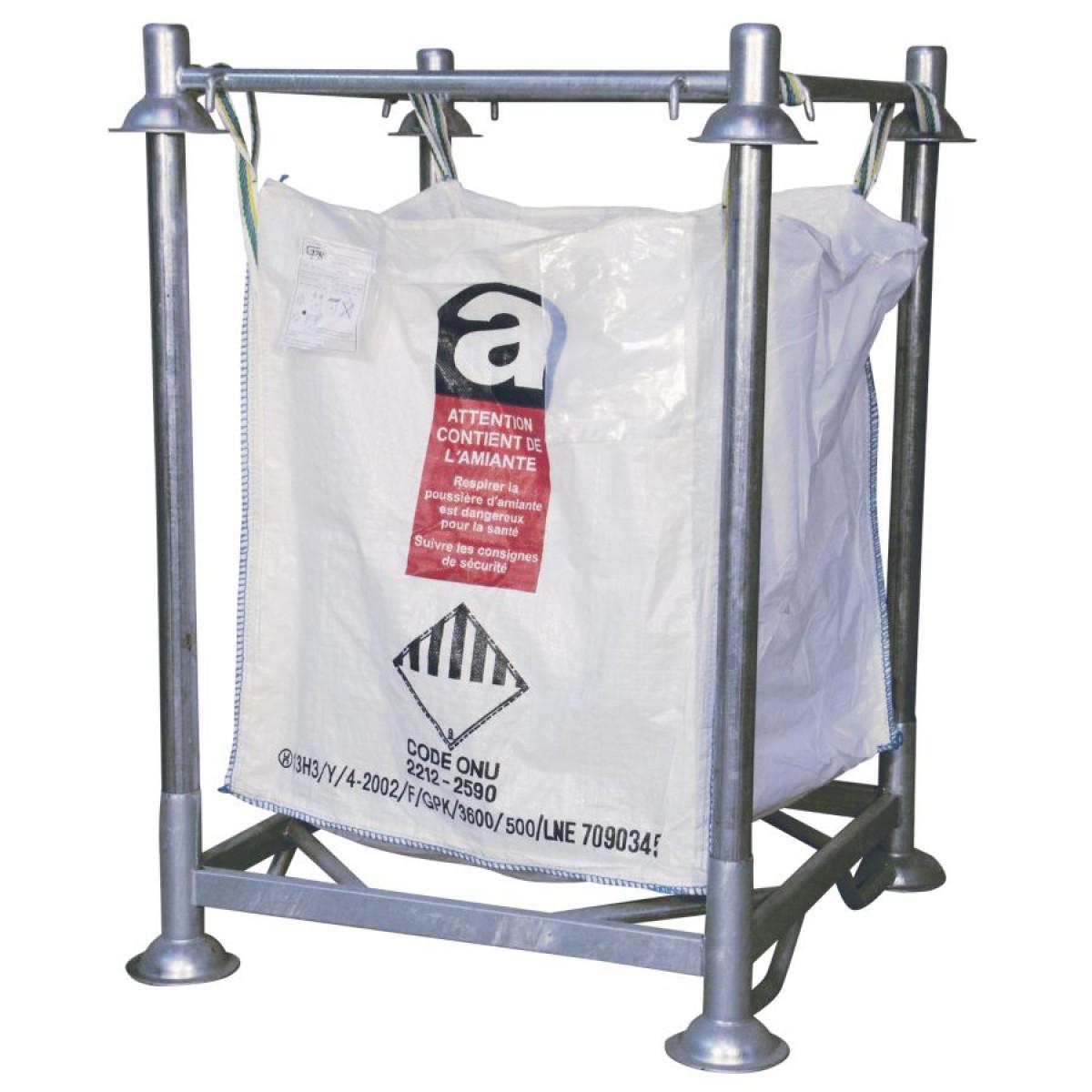 cadre et embase pour support de big bag acier hse center. Black Bedroom Furniture Sets. Home Design Ideas