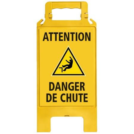 Chevalet plastique jaune Danger de chute