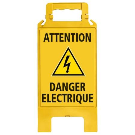 Chevalet plastique jaune Danger électrique
