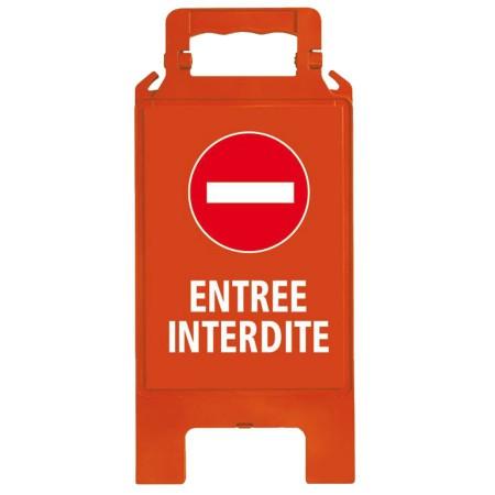 Chevalet plastique rouge Entrée interdite