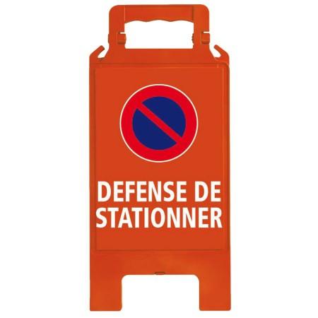 Chevalet plastique rouge Défense de stationner