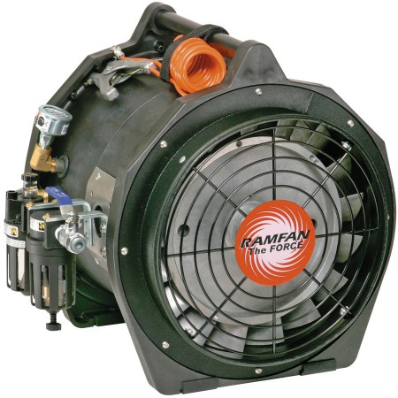 Ventilateur extracteur pneumatique antistatique, Ø 30 cm