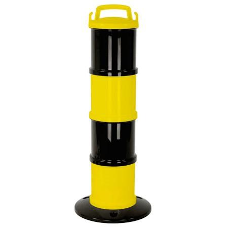 Balise de signalisation modulable noir/jaune +chaîne