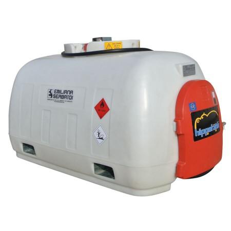 Cuve de transport gasoil 960L en polyéthylène, homologuée ADR - équipée 12V, 45 L/min