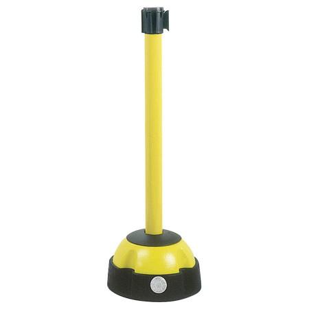 Poteau aluminium sur balise à sangle étirable noir/jaune
