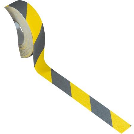 Ruban antidérapant adhésif jaune/noir, largeur 50 mm