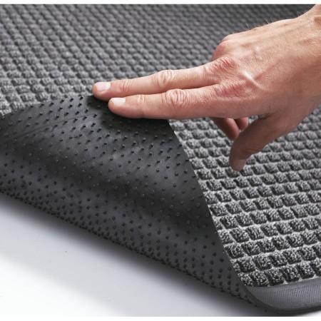 Tapis d'entrée absorbant gris antidérapant 90cm x 1,5m