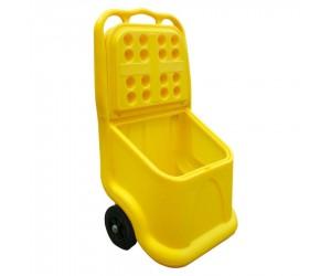 Bacs à sel mobiles multi-usages 75 L jaune