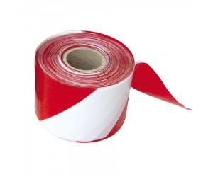Ruban de signalisation rouge et blanc 100 m