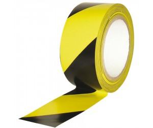 Ruban de signalisation adhésif multi-usage jaune et noir 33m