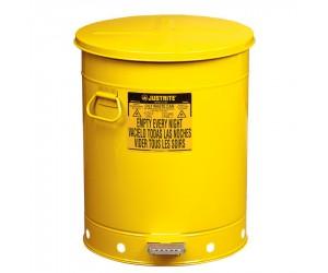 Poubelle métal pour déchets huileux et solvants 79 litres