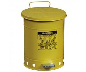 Poubelle métal pour déchets huileux et solvants 38 litres