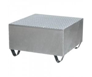 Bac de rétention acier finition galvanisée 1 fût, 220 L, 100 %