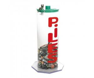 Collecteur de piles transparent sur socle avec serrure - 5,5 L