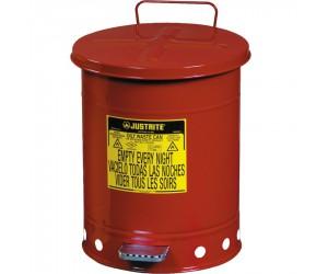 Poubelle métal pour déchets huileux et solvants 23 litres
