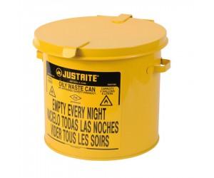 Poubelle métal pour déchets huileux et solvants 8 litres
