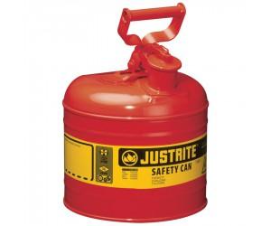 Bidon de sécurité rouge pour produits inflammables, 7.5L