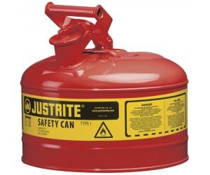 Bidon de sécurité rouge pour produits inflammables, 9.5L