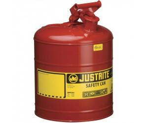 Bidon de sécurité rouge pour produits inflammables, 19L