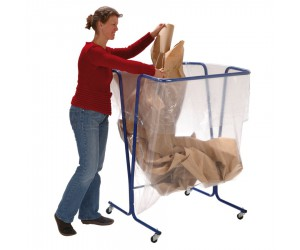 Support de sac mobile grand volume, 600 L