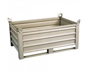 Caisse-palette métallique sur patins 1235 x 835 x 600 mm