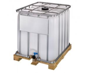 Cuve de stockage 1000 litres avec palette bois