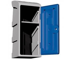 Demi-vestiaire polyéthylène 1 étagère porte-cintres modèle haut, porte bleue