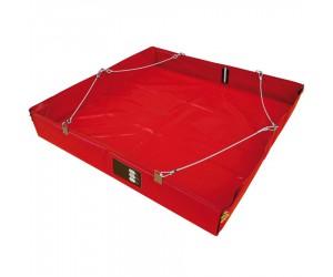 Kit bac de rétention souple 175L avec doublure, sac et tapis
