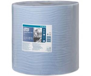 1 bobine d'essuyage bleue gaufrée - 510 m