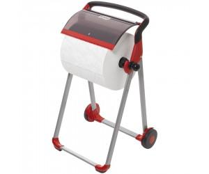 Dérouleur sur pied pour bobine d'essuyage à dévidage latéral - modèle W1