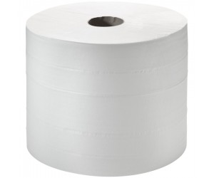 2 bobines d'essuyage blanches gaufrées - 450 m