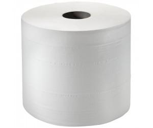 2 bobines d'essuyage blanches gaufrées - 300 m