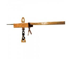 Crochet de levage pour passage 1 fourche chariot élévateur