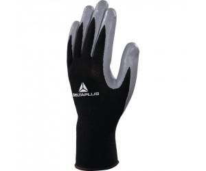 Lot 10 paires de gants VE712GR tricotés en polyester enduits nitrile Taille 9