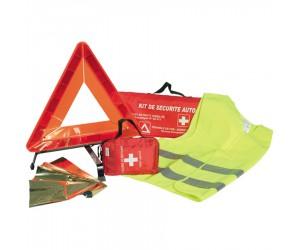 Kit de sécurité auto avec trousse premiers secours