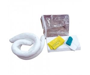 Kit antipollution hydrocarbures en sac jaune avec bandes réfléchissantes, 20 L