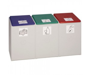 Collecteur plastique 3 modules 60 L sans couvercle