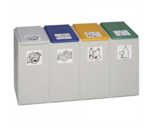 Collecteur plastique 4 modules 60 L sans couvercle