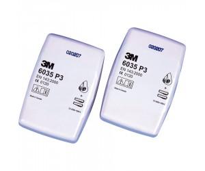 Filtres anti-poussières P3 pour masques respiratoires 3M Série 6000