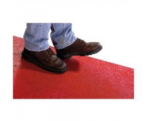 Peinture époxy antidérapante rouge, usage intensif