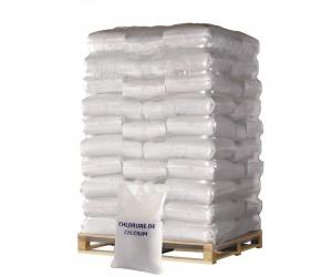 Déverglaçant et déneigeant à base de chlorure de calcium en palette de 40 sacs de 25 kg