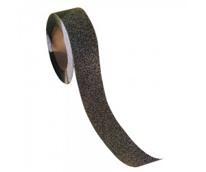 Ruban antidérapant adhésif noir, largeur 25 mm