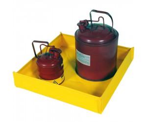 Bac de rétention souple pliable PVC pour petits bidons, 76 L