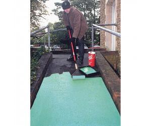 Peinture époxy antidérapante verte, usage intensif